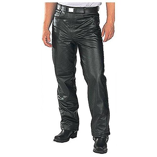 Classic Mens Fitted Leather Pants