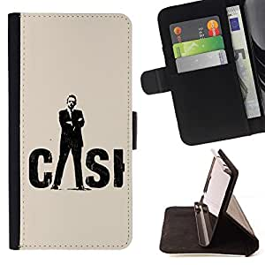 DEVIL CASE - FOR Sony Xperia Z1 L39 - CASI - Style PU Leather Case Wallet Flip Stand Flap Closure Cover