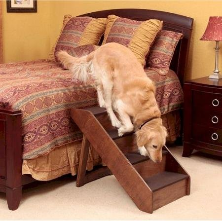 Domestic Pet Dog Stairs Extra Large Wood Dog Steps Easygoing by PetsRFriends