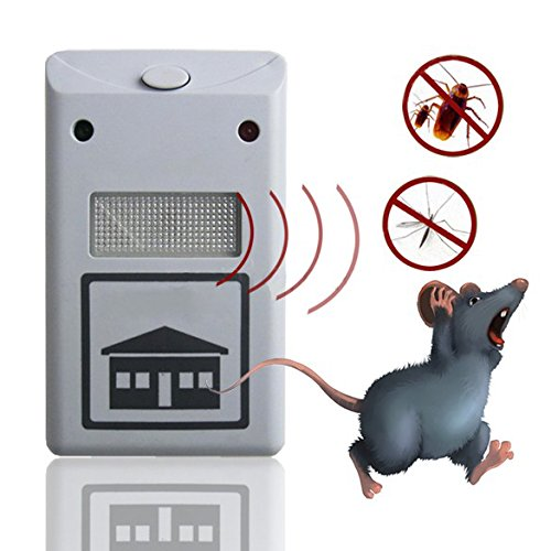 Electronic Ultrasonic Rat Mouse Repellent Anti Mosquito Pest Repeller Rodent Pest Bug Reject Mole Repeller ()