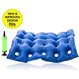 """Healtheveryday® Premium Air Inflatable Seat Cushion 17"""" X 17"""" (Waffle)Medical Wheel Chair Air Cushion Inflatable Seat Mattress Anti Bedsore Prevent Decubitus Ideal for Prolonged Sitting with Pump FDA CE Approval"""