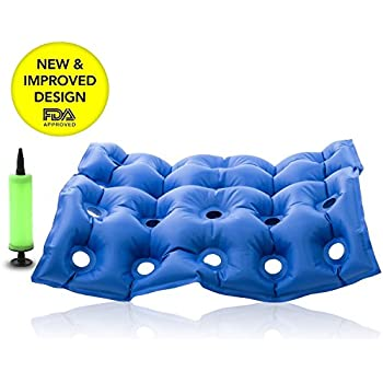 HiiBaby Medical Wheel Chair Air Cushion Inflatable Seat Mattress Anti Bedsore Prevent Decubitus Ideal for Prolonged Sitting with Pump FDA CE Approval 17 x ...