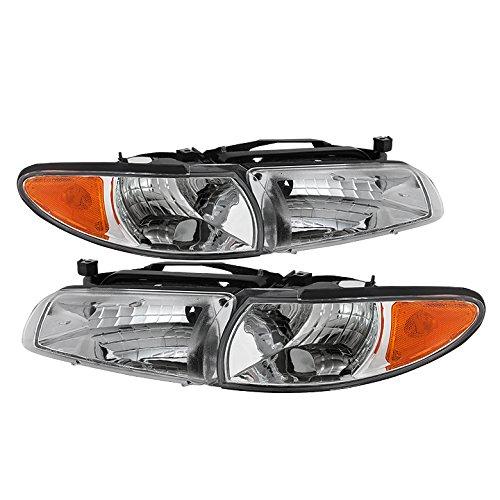 Pontiac Grand Prix Crystal Headlights W/ Amber Corner Lights Chrome Housing With Clear ()