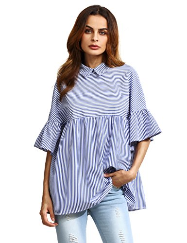 SheIn Womens Oversized Striped Collared product image