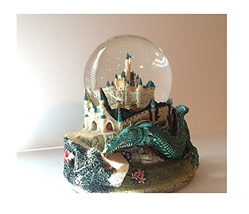 (Musical Snow Globe Once Upon A Dream Castle Dragon Sleeping Beauty Maleficent )