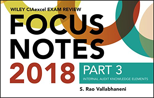 Wiley CIAexcel Exam Review 2018 Focus Notes, Part 3: Internal Audit Knowledge Elements (Wiley CIA Exam Review) [Vallabhaneni, S. Rao] (Tapa Blanda)
