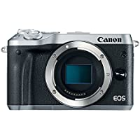 Canon EOS M6 24.2MP Full HD 1080p Mirrorless Digital Camera (Body Only, Silver)