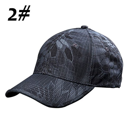 Men Camouflage Military Adjustable Hat Camo Hunting Fishing Army Baseball Cap US (2)