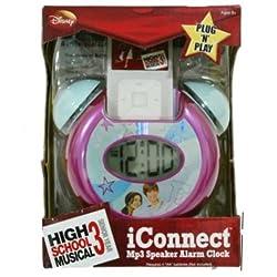 High School Musical iConnect MP3 iPod Zune Speaker Alarm Clock Plug N Play by Disney