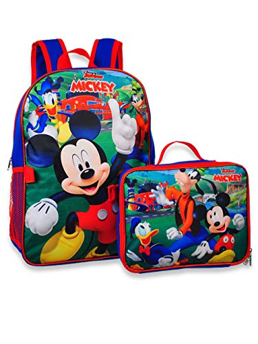 Mickey Mouse 16 Backpack W/Detachable Lunch Box