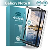 Klearlook Unique [Fingerprint Killer] Galaxy Note 8 Screen Protector, Anti Glare Matte Tempered Glass + 1 Piece Back Carbon Fiber Skin For Samsung Galaxy Note 8 [Front and Back]