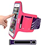 iPhone 7/6S/6 Plus Armband Case for Running,EOTW Sweatproof Sports Phone Armband Pouch With Key Holder For Walking,Jogging,Gym,Cycling,Exercising (Pink 5.5 inch)