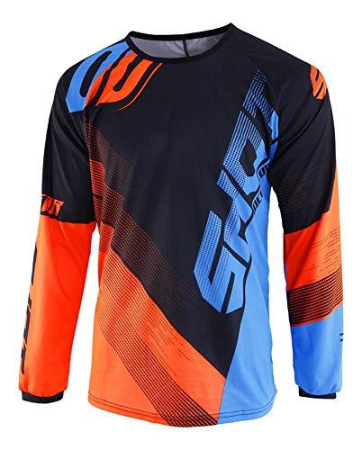 SHOT–Camiseta Kid Devo Ultimate, azul/naranja neón, talla 10/11
