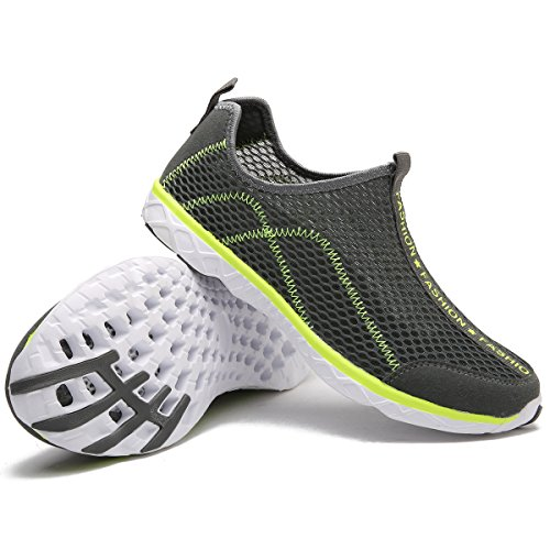 Sports Water Comfortable Aqua Perfect Lightweight Shoes Drying Water Mens Gray for and Womens Breathable Mesh Quick adituo HSqT88