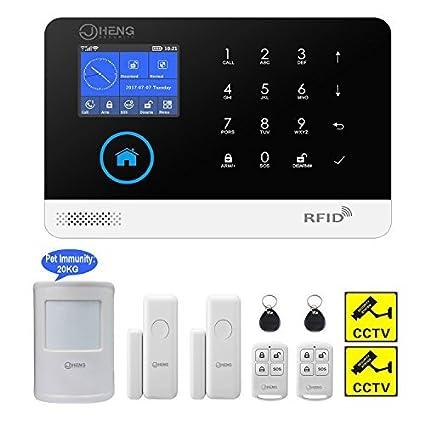 amazon com jc wireless 2g wifi security alarm system rfid rh amazon com 4600 Alarm System User Manual Ademco Alarm System User Manual