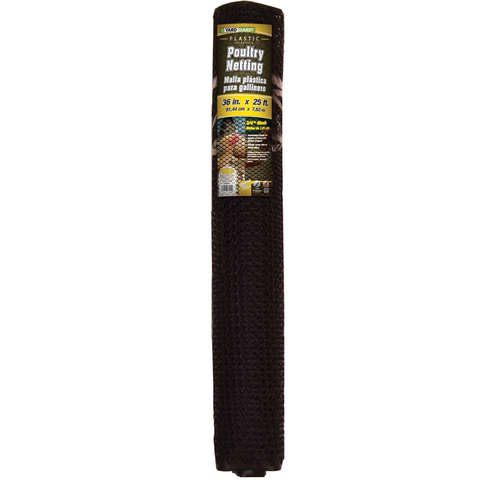 YARDGARD 889240A Fence, 25 Foot Black,