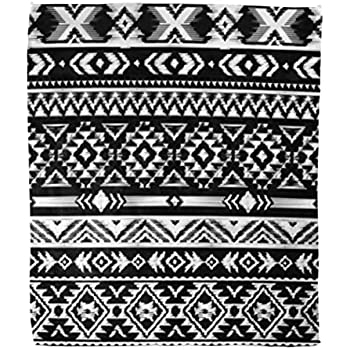 Amazon.com: Golee Throw Blanket Black and White Pattern in ...
