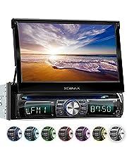 XOMAX XM-DTSB931 Autoradio con Pantalla Táctil I Bluetooth I DVD, CD, SD, USB, RDS I 7 Colores ajustable I Conexiones para cámara de marcha atrás, mando a distancia del volante y subwoofer I 1 DIN