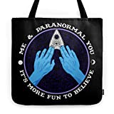 Society6 Me & Paranormal You - James Roper Design - Ouija (white Lettering) Tote Bag 18'' x 18''