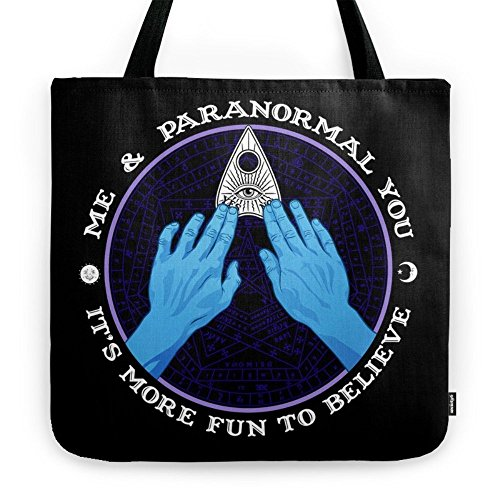 Society6 Me & Paranormal You - James Roper Design - Ouija (white Lettering) Tote Bag 18'' x 18'' by Society6