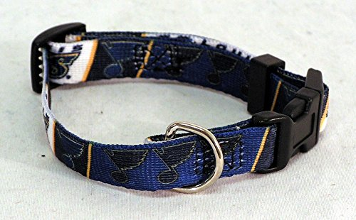 St Louis Blues NHL dog pet collar XS 6-12""