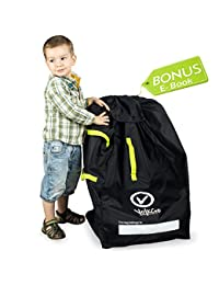 VolkGo DURABLE Car Seat Travel Bag with BONUS e-BOOK –– Ideal Gate Check Bag for Air Travel & Saving Money –– For Safe, Secure & Germ-Free Car Seat –– Fits Car seats, Infant Carriers & Booster BOBEBE Online Baby Store From New York to Miami and Los Angeles