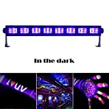 Boryli 9 x 3 W LED UV Black Light Party Disco Light Effect DJ Bar Stage Lighting Metal Housing Black