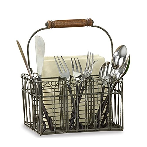 Vintage Wire Flatware Napkin Caddy product image