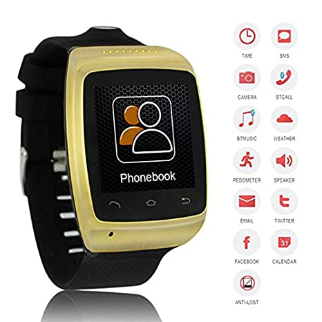 Amazon.com: Flylinktech Reloj Inteligente Bluetooth 2.0 MP ...