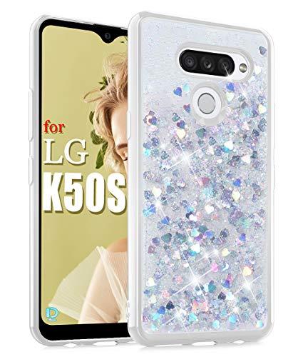 Funda Dzxouui Con Glitter Para LG K50s.plateada