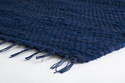 Pradera Rugs alfombra (2 x 3 pesado algodón) azul cobalto: Amazon.es: Hogar