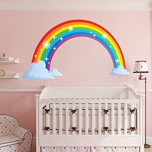 d/écor Mural 28.7 x15.7inch SayHia Stickers muraux Arc-en-Ciel Stickers Autocollants muraux Amovibles pour Enfants Chambre Salon Chambre denfant