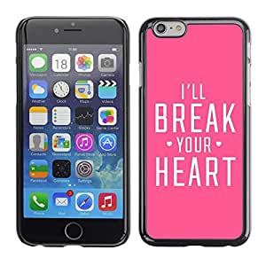 Caucho caso de Shell duro de la cubierta de accesorios de protección BY RAYDREAMMM - Apple iPhone 6 - Heart Heartbreak Pink Fierce Love