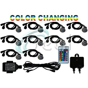 amazon com led deck lights pack of 10 color changing rgb