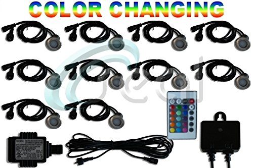 10 Colour Changing Led Lights Decking