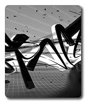 fun mouse mats background text black and whites pc custom mouse pads