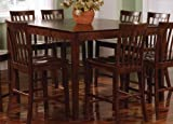 Counter Height Dining Table Contemporary Style Walnut Finish