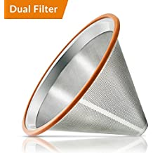 Pour Over Coffee Filter - Reusable Drip Coffee Filters for Chemex, Hario V60 and other Coffee Makers Filters - Chemex Coffee Maker Chemex Coffee Filters