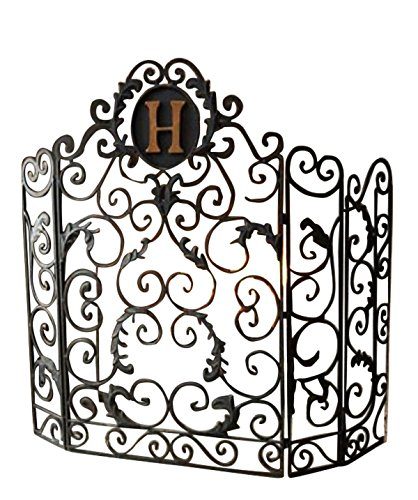 Amazon Com Monogrammed Curved Old World Iron Fireplace