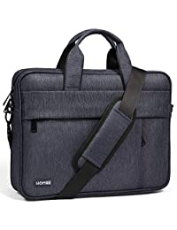 "HOMIEE 15-17 Inch Laptop Shoulder Bag, Protective Laptop Bag Waterproof Business Briefcases for Men & Women, Fits for 15"" MacBook Pro, HP/Dell/Asus/Acer/Thinkpad/Samsung Laptops Notebooks"