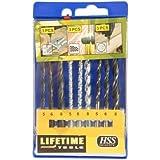 Lifetime Tools 34066 9 Forets 3 diamètres 5/6/8 pour bois/pierre/métal HSS