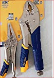 Irwin 82SG Vise Grip 2 Piece 5-Inch and 10-Inch Curved Jaw Soft Grip Plier Set