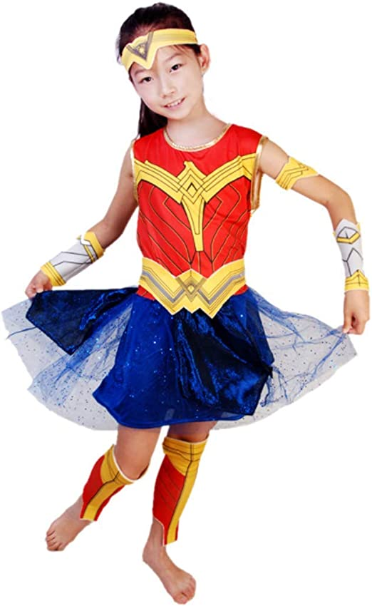 CVDEKH Halloween Ropa Infantil de Wonder Woman Cosplay cos para ...