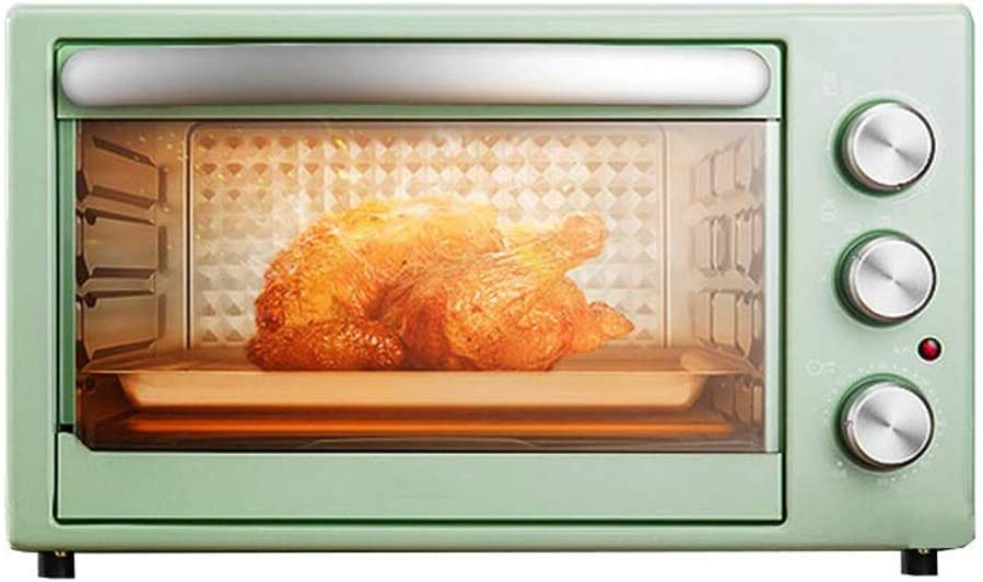 CMmin 1500-Watt Countertop Microwave Oven,A Variety of Cooking Functions 304 Stainless Steel Heating Tube,Adjustable Temperature Control and Timer,1500W,Green