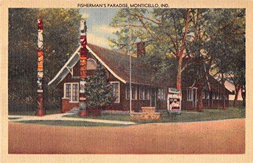 - Monticello Indiana outside Fishermans Paradise linen antique pc Y12656