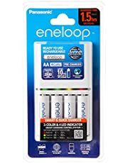 Panasonic Eneloop Battery Charger with 4 AA Rechargeable Batteries