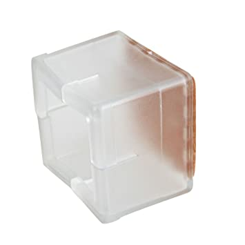 Square 40x40mm Transparent Silicon Gel Chair Leg Caps Feet Pads Furniture  Table Covers Wood Floor Protectors