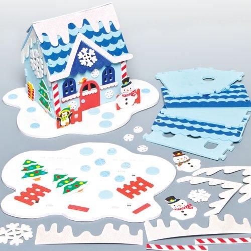 Kit de la Maison du Bonhomme de Neige que les Enfants pourront Confectionner puis Décorer (À l'unité)