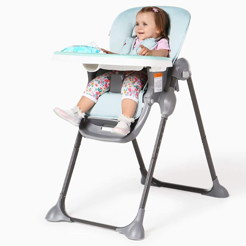 HTOOLA Silla de Comedor para BebÃcopy;s Mesa de Comedor para NiÃplusmn;Os y sillas de Seguridad Plegables PortÃiexcl;Tiles Multifunción para Comer,A