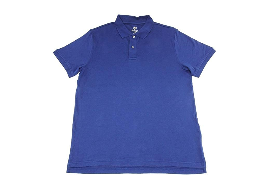 4-Pack Mens 100/%-Egyptian Cotton Classic Fit Polo Shirt Members Mark